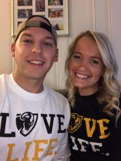 Logan and Rach selfie