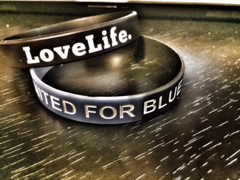 LoveLife. United for Blue graphic