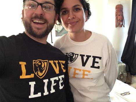Matt and Noor selfie